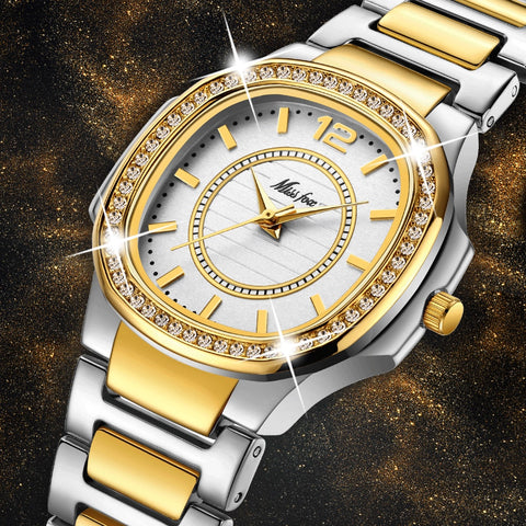 Women Fashion Watch Luxury Brand Diamond Quartz Gold Wrist Watch