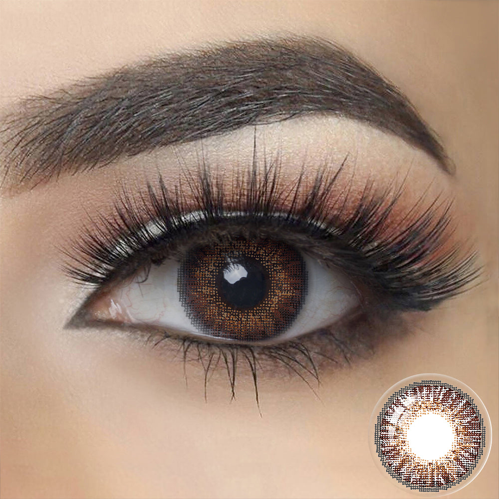 3 Tone BROWN Colored Contact Lenses