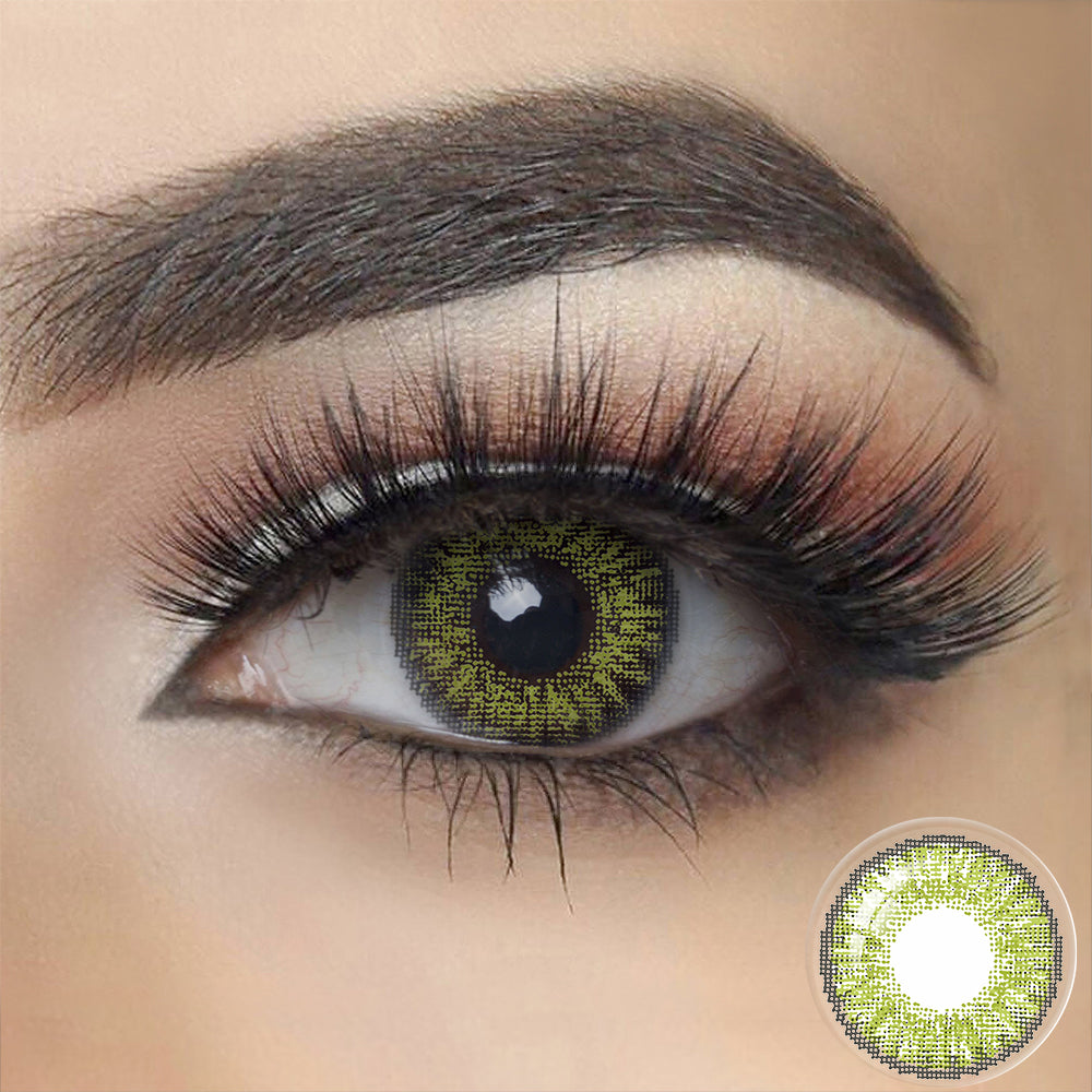 3 Tone GEMSTONE GREEN Colored Contact Lenses