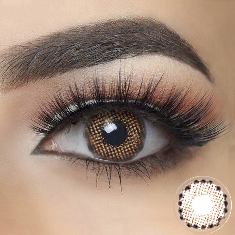 Canna Roze HONEY BROWN Colored Contact Lenses