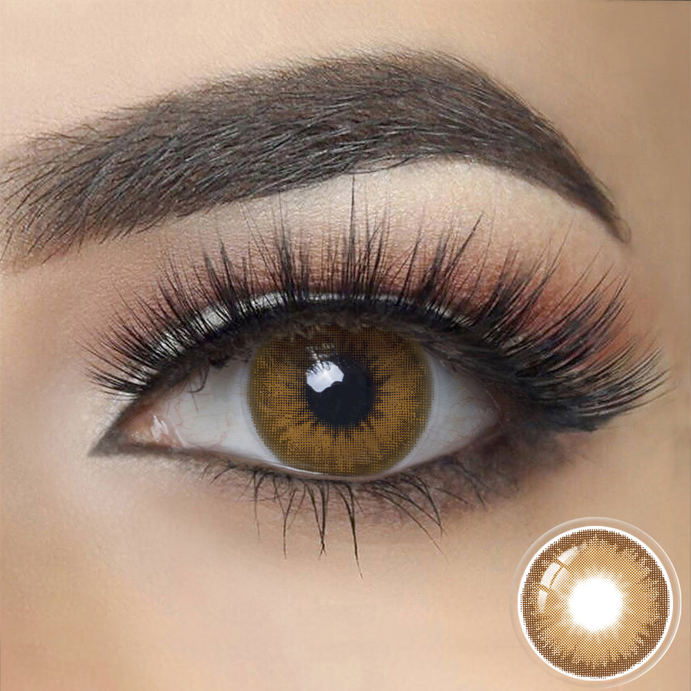 Diamond BROWN SHADOW Colored Contact Lenses