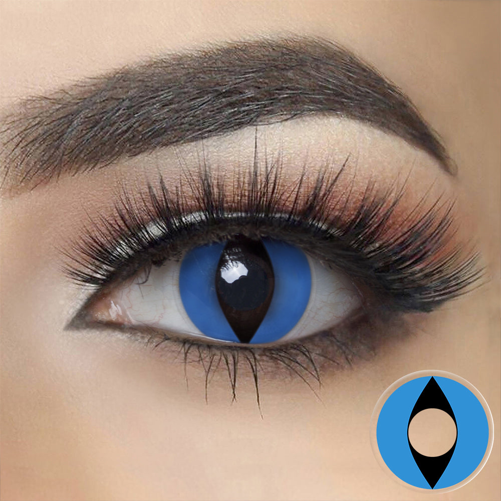 Blue Cat Eye Halloween Contacts