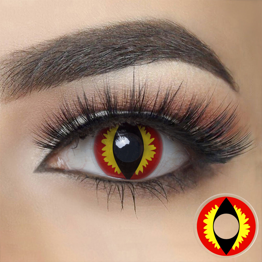 Red Lizard Eye Halloween Contacts