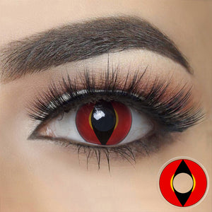 Red Dragon Eye Halloween Contacts
