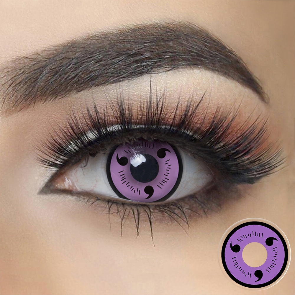 Naruto Sasuke - Purple Sharingan Halloween Contact Lenses