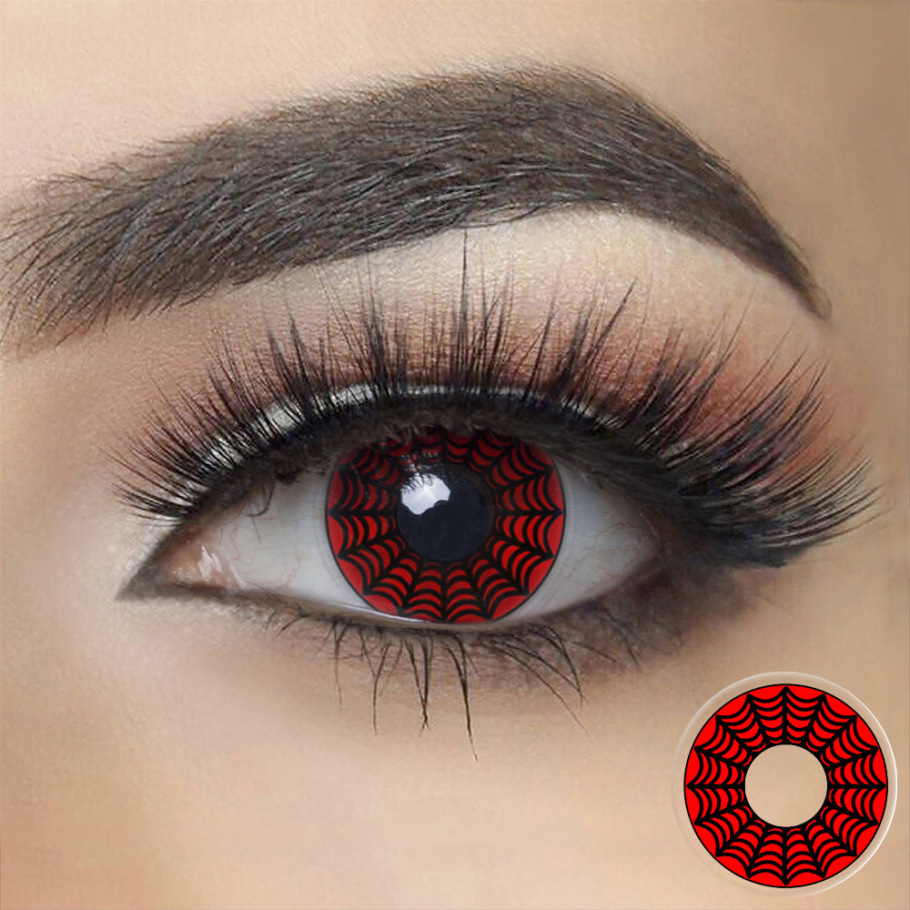 Spider Web Halloween Contacts