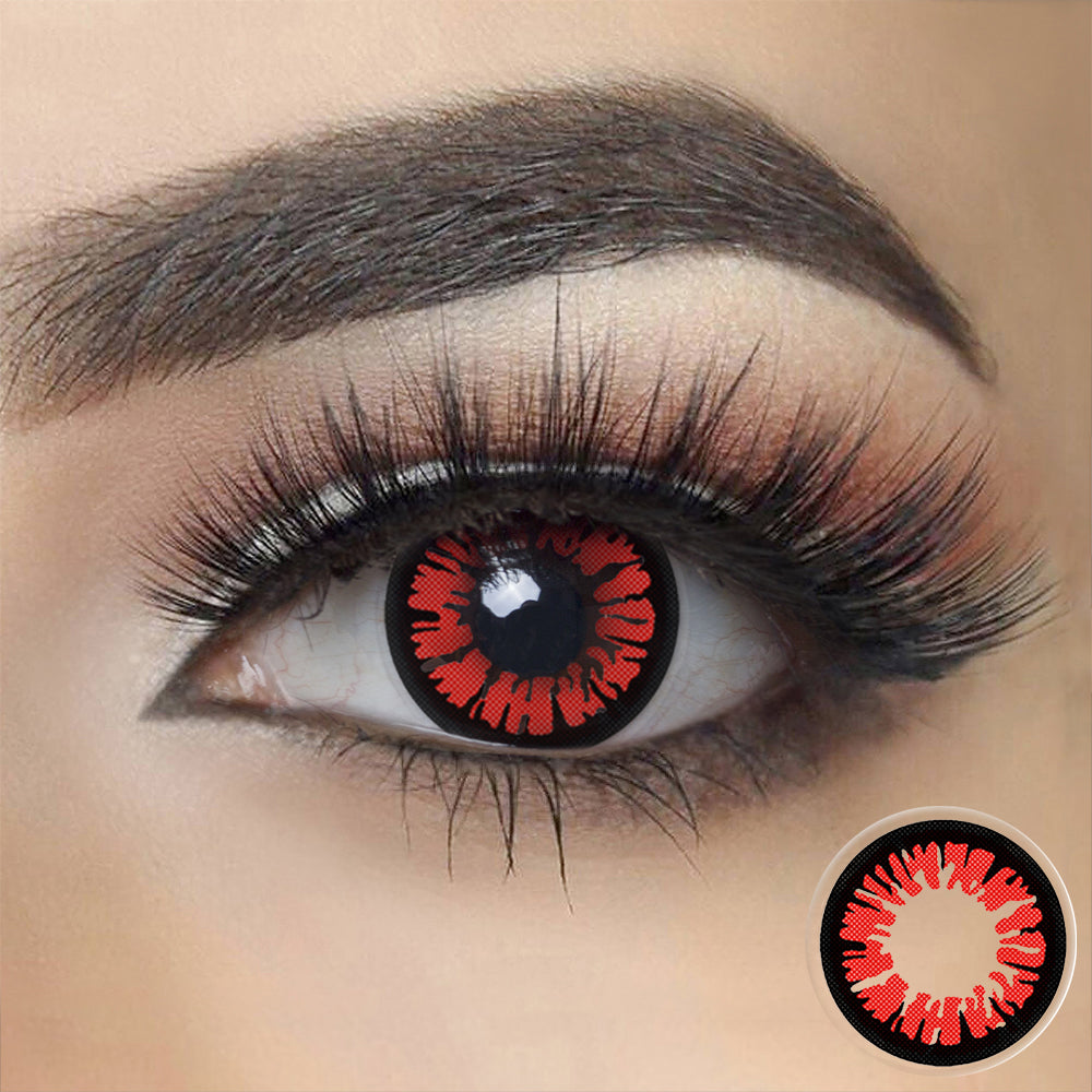 Glamor Red Halloween Contacts