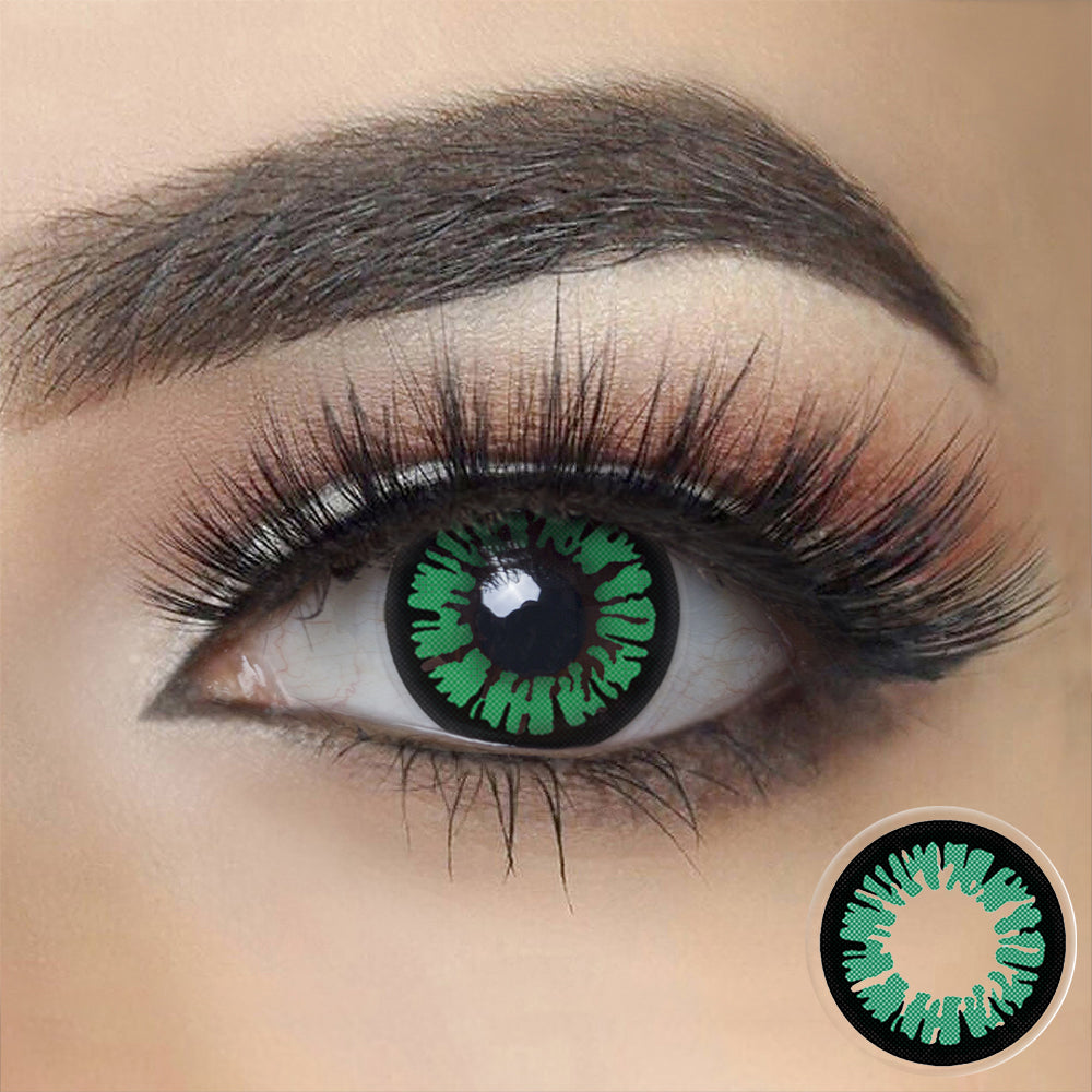 Glamor Green Halloween Contacts