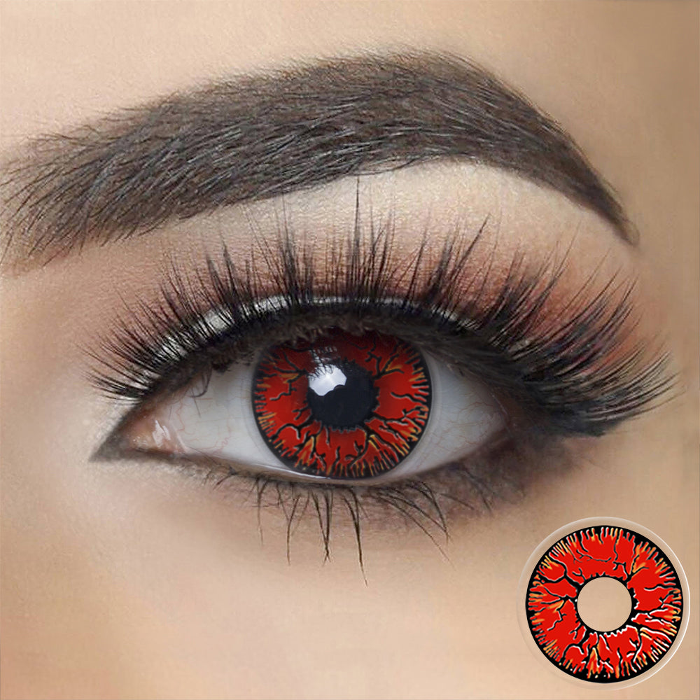 Red Crack Halloween Contacts