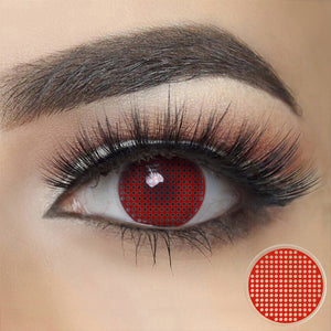 Red Mesh Halloween Contacts