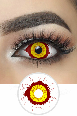 Fever Yellow and Red Sclera Lenses