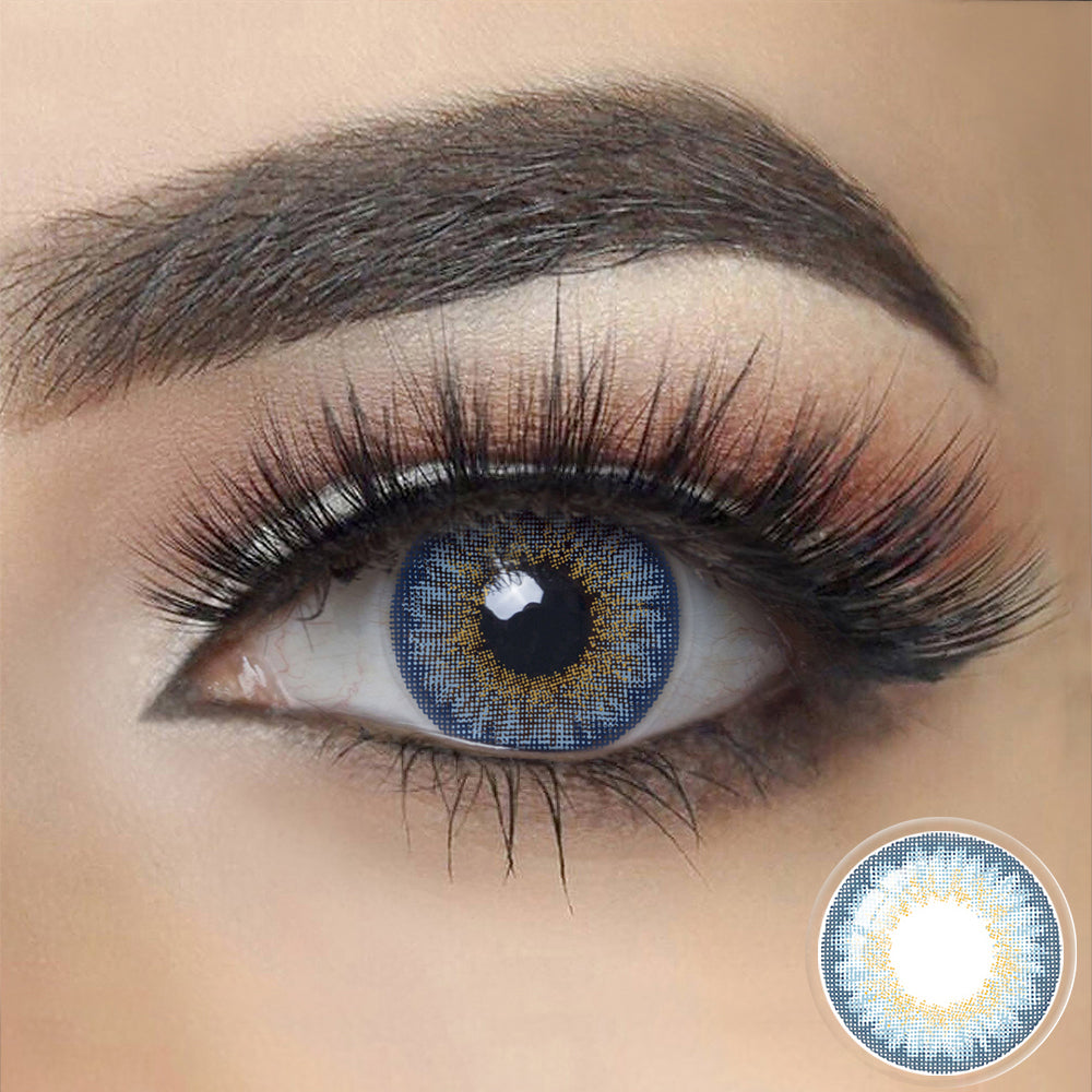 Glow VIVID BLUE Colored Contact Lenses