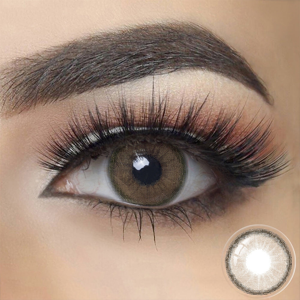 NUDE BROWN Canna Roze Colored Contact Lenses