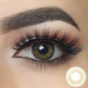 Spanish REAL OLIVE Colored Contact Lenses