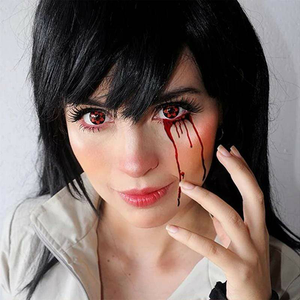 Naruto - Red Sharingan Halloween Contact Lenses