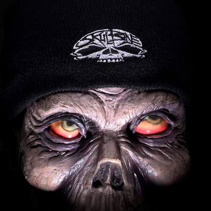 Beanie with Skull Logo - Dark Cat Mansion