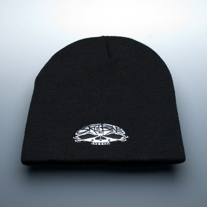 Beanie with Skull Logo - darkcatmansion