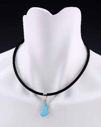 Blue Turquoise Necklace - Dark Cat Mansion