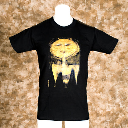 Black Tee Shirt with Abstract Design - darkcatmansion