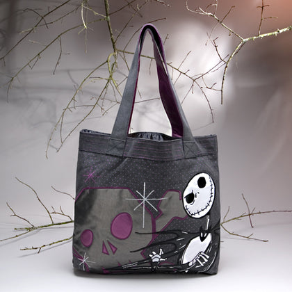 Nightmare Before Christmas Tote - Dark Cat Mansion