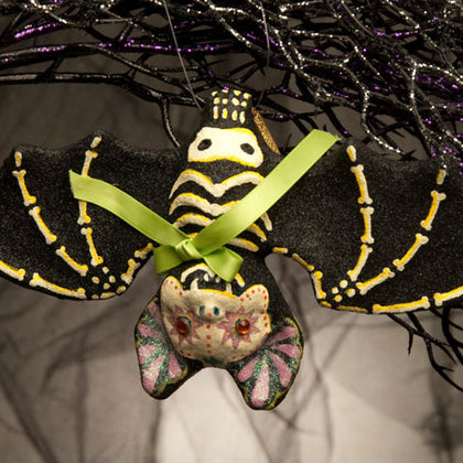 Bat Skeleton Ornament - darkcatmansion