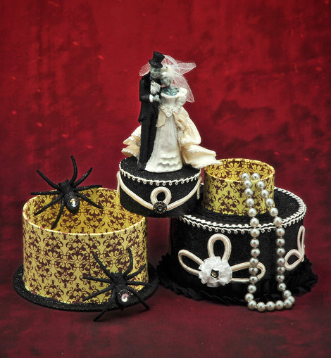 Skeleton Bride and Groom Cake Box - darkcatmansion