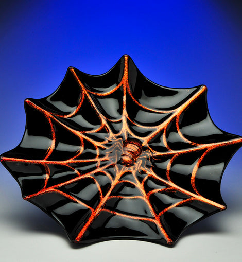 Spider Web Platter - darkcatmansion