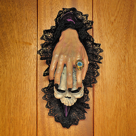 Skull Hand Door Knocker - darkcatmansion