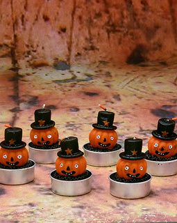 Pumpkin Tea Light Set - darkcatmansion