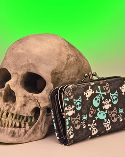 Skull Wallet - darkcatmansion