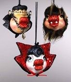 Monster Kissing Fish Ornament Set - darkcatmansion