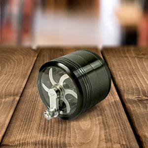 Bluntly Hand Cranked Premium Four Part Grinder