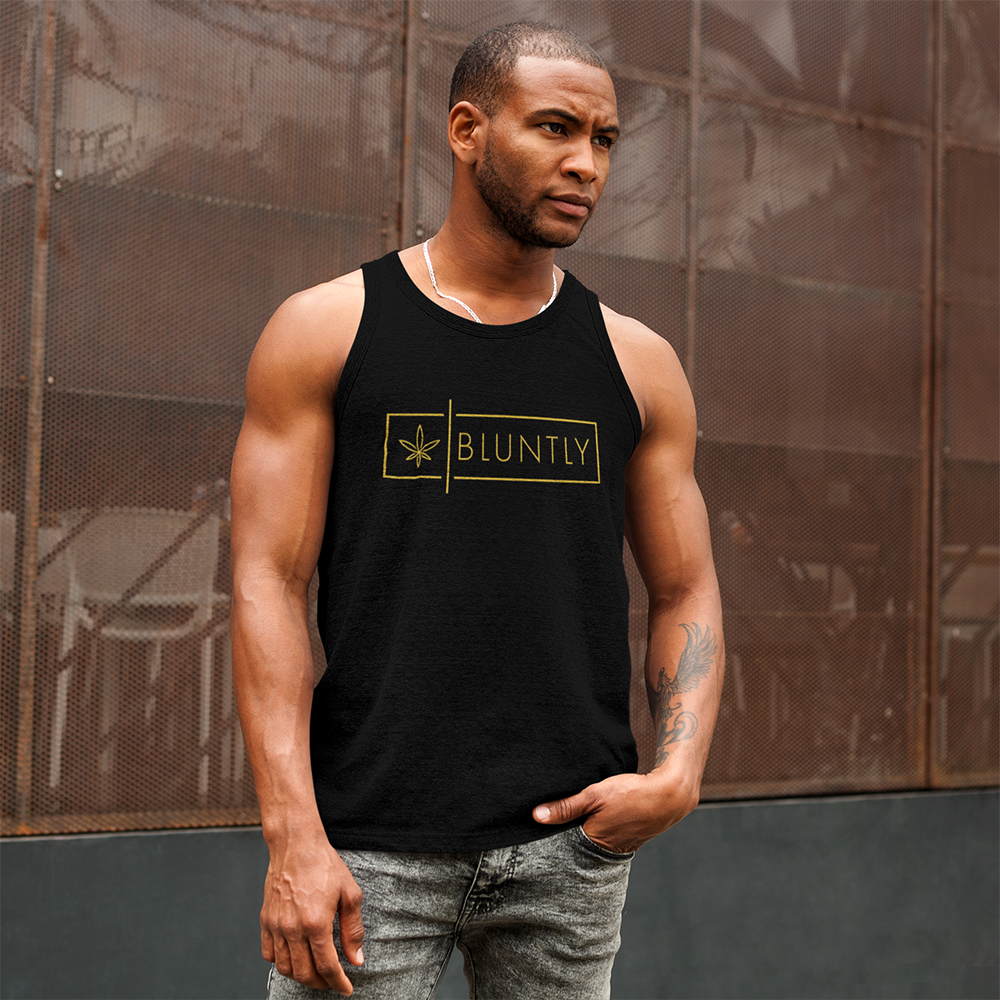 Bluntly Limited-Edition Sleeveless Vest/Tank Top With Logo