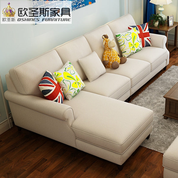 2019 New Arrival American Style Simple Latest Design Sectional L Shaped  Corner Livingroom Furniture Recliner Sofa Set F75F