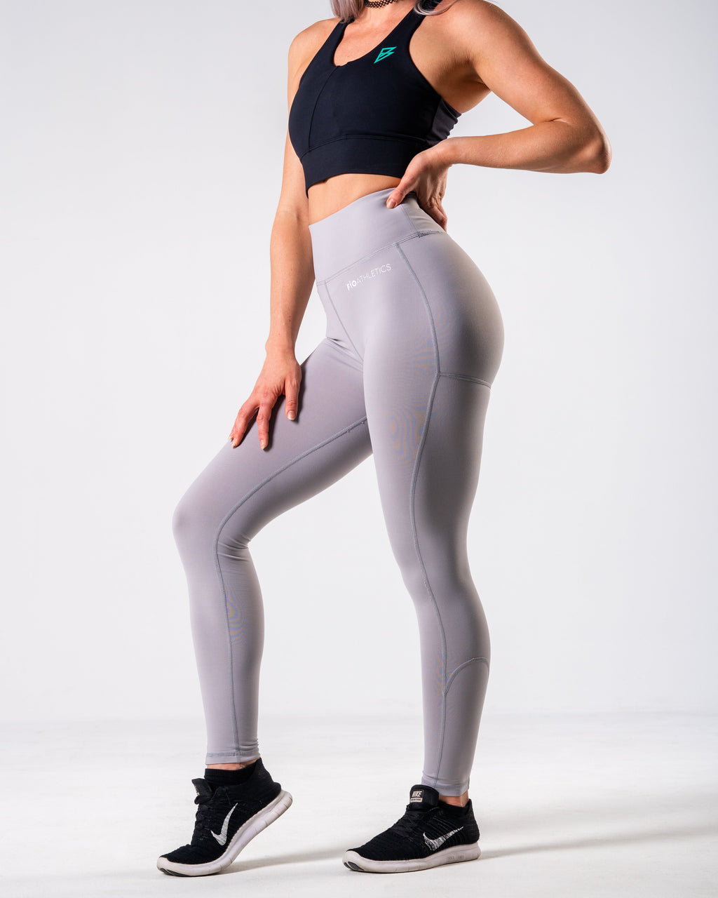 Lush Performance Leggings - Silver Grey - FIO Athletics