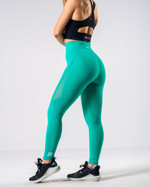 Lush Mesh Leggings - Teal - FIO Athletics