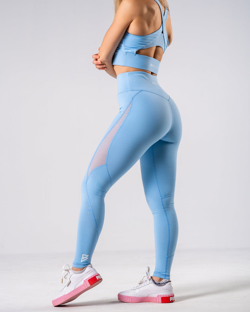 Lush Mesh Leggings - Powder Blue - FIO Athletics