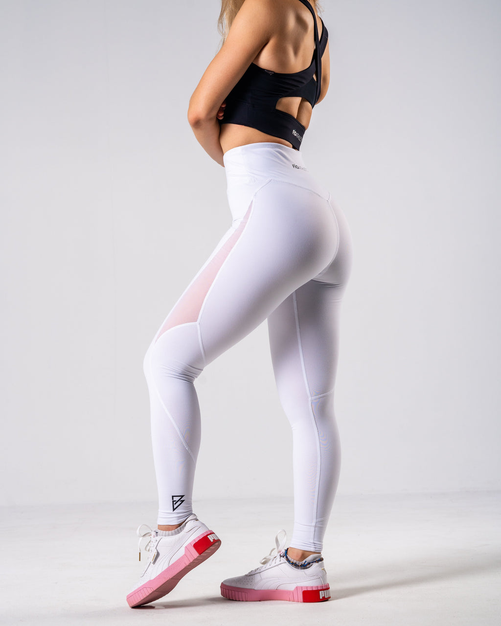 Lush Mesh Leggings - White - FIO Athletics