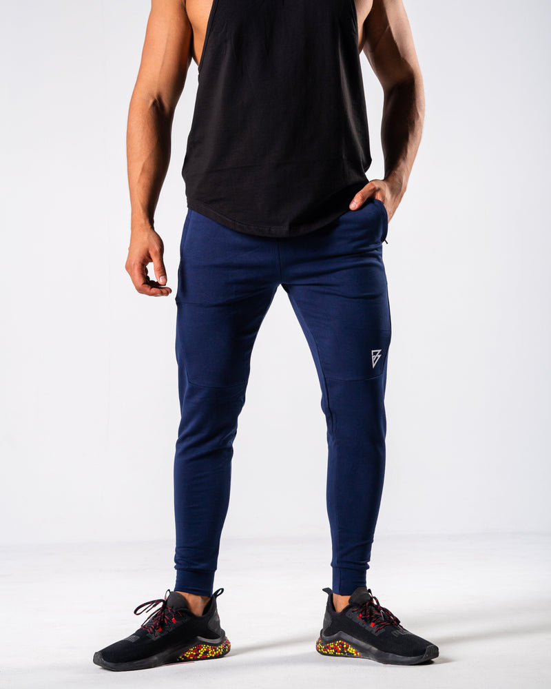 FÍO Tapered Joggers - Navy - FIO Athletics