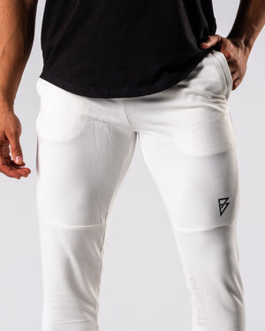 FÍO Tapered Joggers - White - FIO Athletics