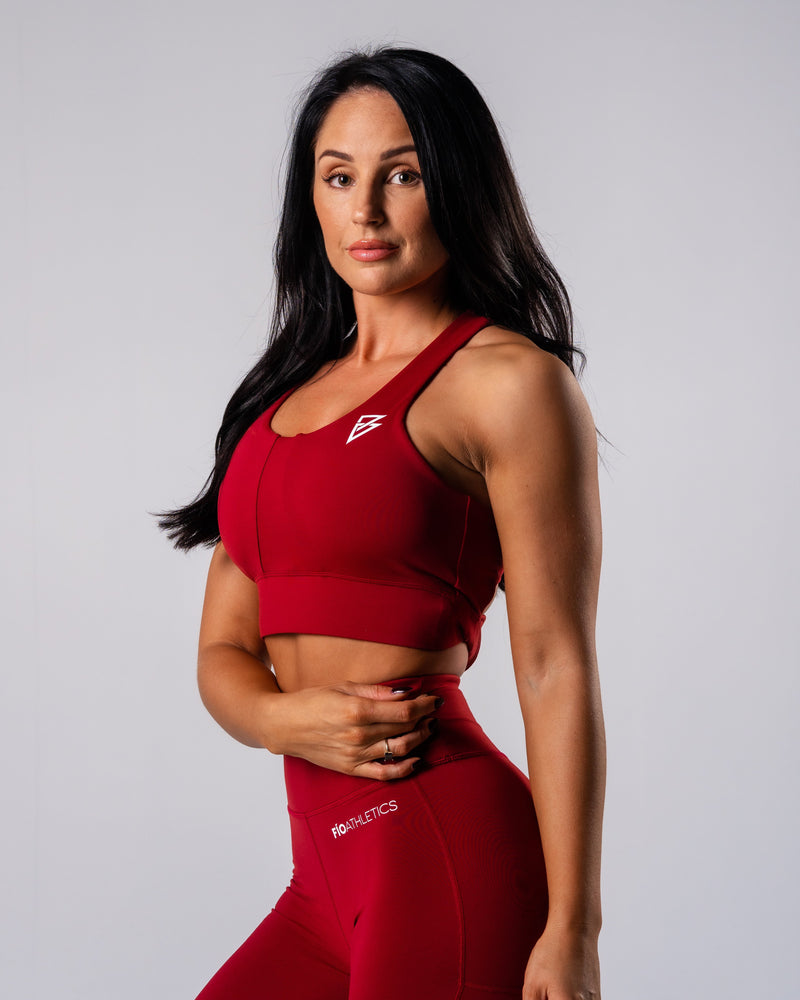 Excel Sports Bra - Garnet - FIO Athletics