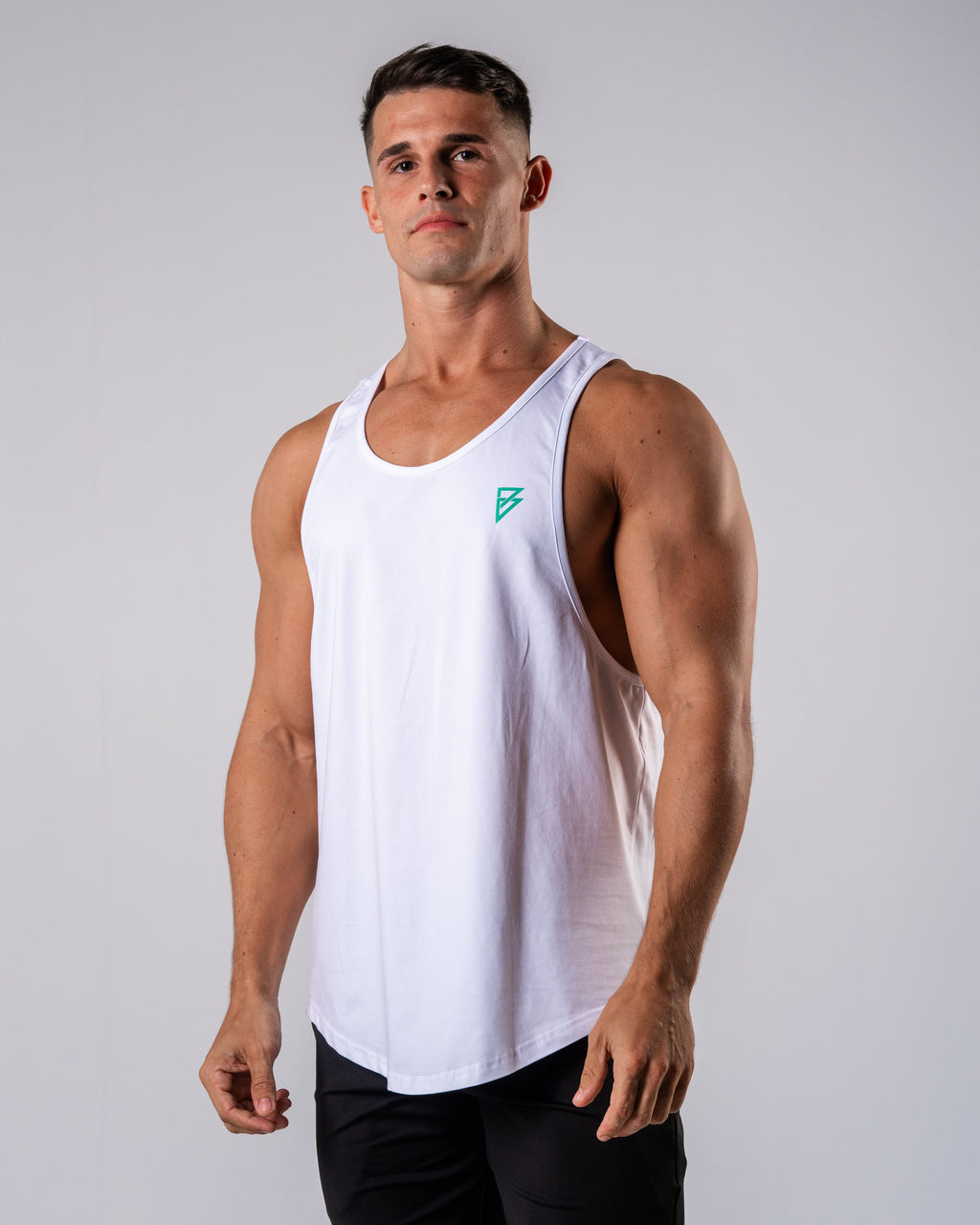 Inspire Cutoff - White - FIO Athletics