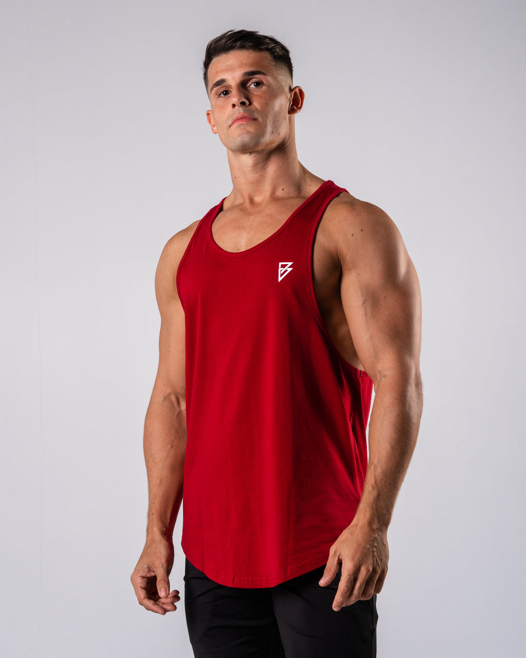 Inspire Cutoff - Red - FIO Athletics