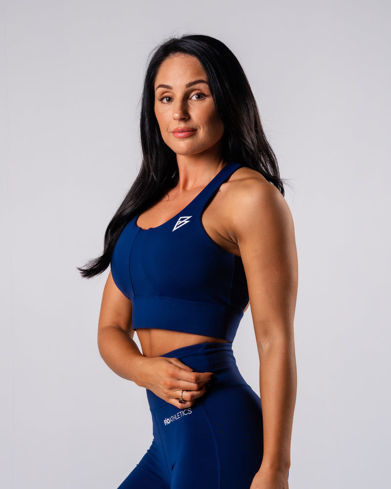 Excel Sports Bra - Navy - FIO Athletics
