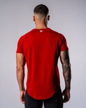 Flagship Performance Tee - Red - FIO Athletics