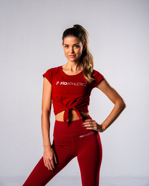 Flagship Crop Tee - Red - FIO Athletics