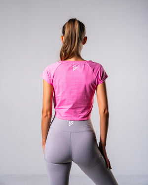 Flagship Crop Tee - Sweet Pink - FIO Athletics