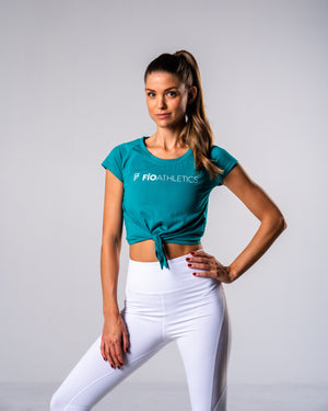 Flagship Crop Tee - Teal - FIO Athletics