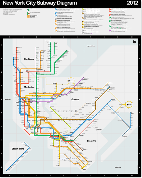 New York City Subway Map Design.2012 Subway Diagram