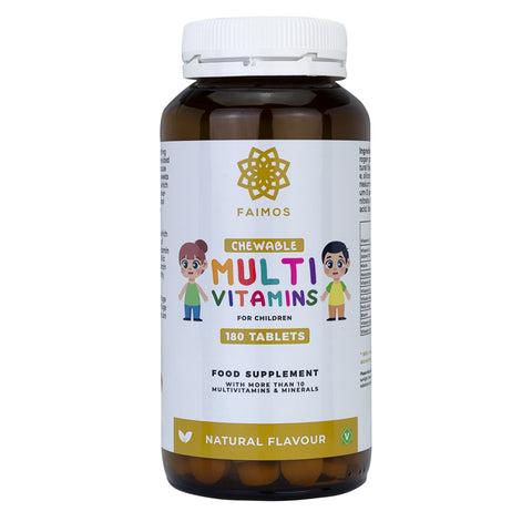 Faimos Chewable Multi Vitamins For Children - 180 Tablets